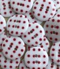 22mm Polka Dot Buttons -Clearance